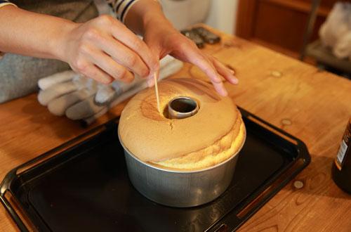 から 外す ケーキ タイミング シフォン 型