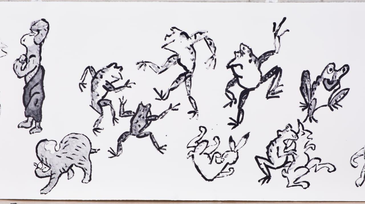 第5回 ズビネック セカール ロベルト マッタの息子さん 96歳の柚木沙弥郎さんが描いた 12メートルの鳥獣戯画の話 柚木沙弥郎 村山治江 ほぼ日刊イトイ新聞