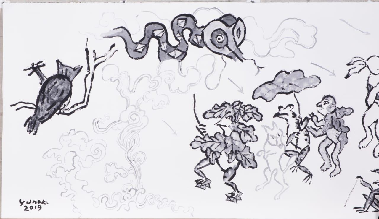 第4回 パリのこと 芹沢銈介さんのこと 96歳の柚木沙弥郎さんが描いた 12メートルの鳥獣戯画の話 柚木沙弥郎 村山治江 ほぼ日刊イトイ新聞