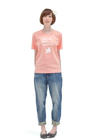 くまのバカンスTシャツ(ネイビー) 撮影: 大木 大輔(モデル)中村 圭介(商品) スタイリスト