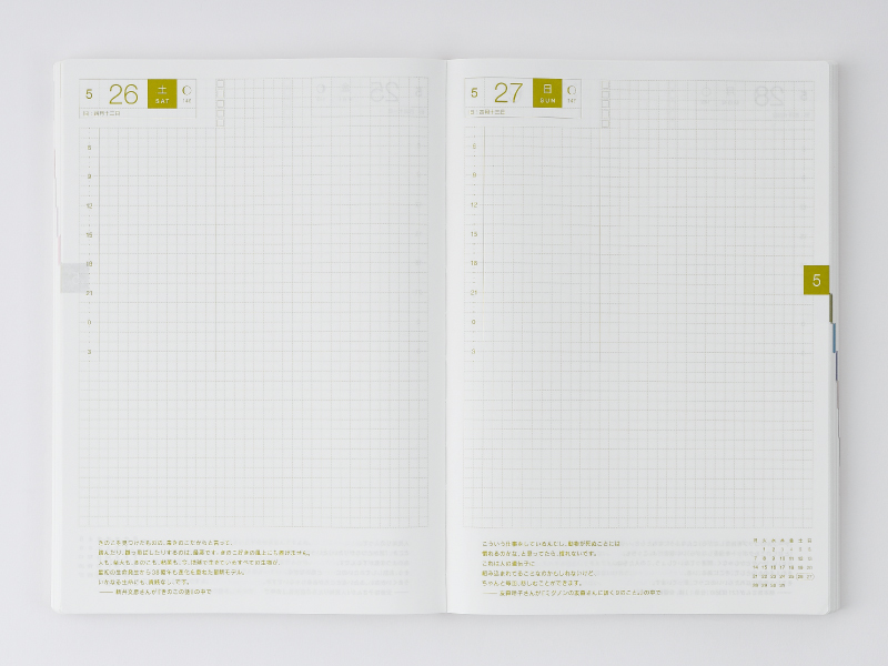 Features - Hobonichi Techo Cousin - 4 Techo Types