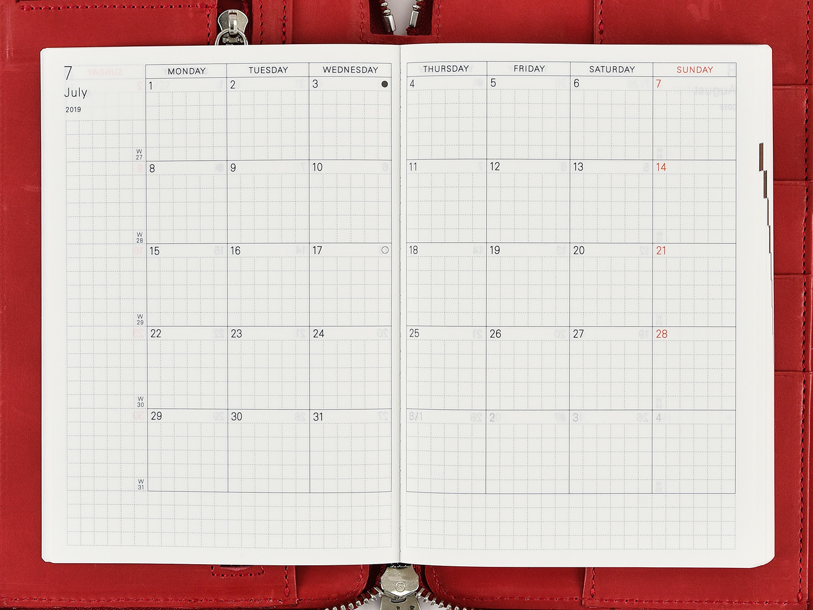 monthly calendar hobonichi techo planner book buying guide