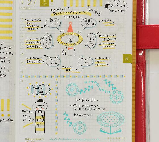 Mizutamaさんの 絵が苦手な人のためのかわいい描き方講座 ほぼ日手帳 2018