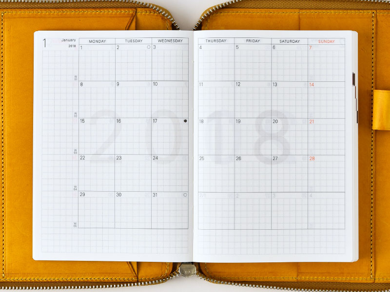 Calendar Planner Book : Hobonichi techo planner types of books