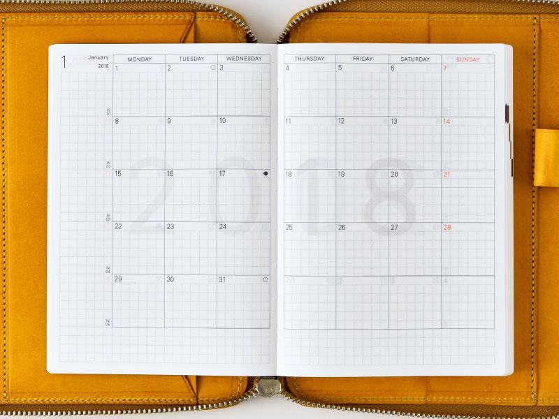 Calendar Planner Stickers : Hobonichi techo planner types of books