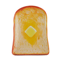 Mini butter toast plate
